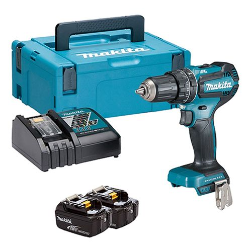 Makita DHP484RTJ 18V Brushless Combi Drill with 2 x 5.0AH Battery