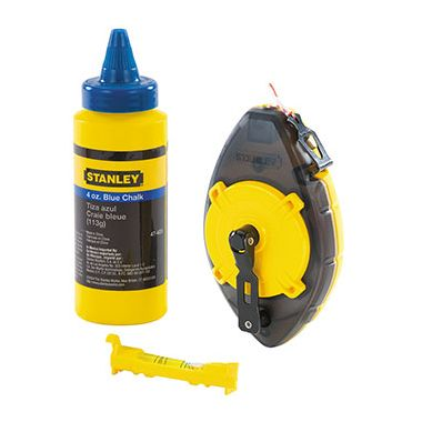 Stanley 0-47-465 Powerwinder Chalk Line Kit with Chalk and Line Level