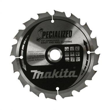 Makita B-09472 TCT 165mm x 20mm 40 Tooth Saw Blade for Knots and Nails