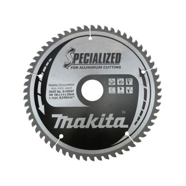 Makita B-09597 TCT 190mm x 30mm 60 Tooth Saw Blade for Aluminium