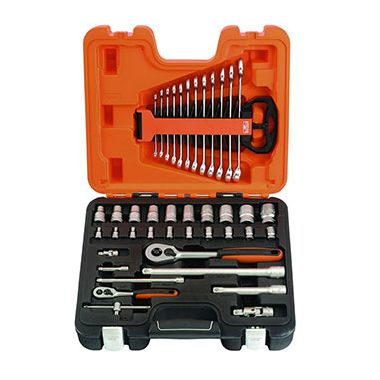 "Bahco S410 Socket and Spanner Set 1/4"" and 1/2"" Drive with 41 Pieces"