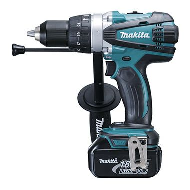 Makita DHP458RF3J 18v Li-Ion Combi Drill with 3 x 3.0Ah Batteries in MAKPAC Case