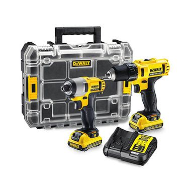 Dewalt DCK211D2T 10.8v Li-Ion Drill Driver and Impact Driver Twin Pack with 2 x 2.0Ah Batteries