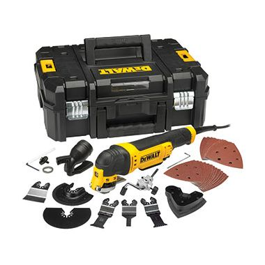 Dewalt DWE315KT 300w Multi-Tool Quick Change Kit and Tstak Box 110v