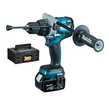 Makita DHP481SP1R 18v Li-Ion Aniversary Special Edition Brushless Combi Drill with 1 x 5.0ah Battery and MakPac Case