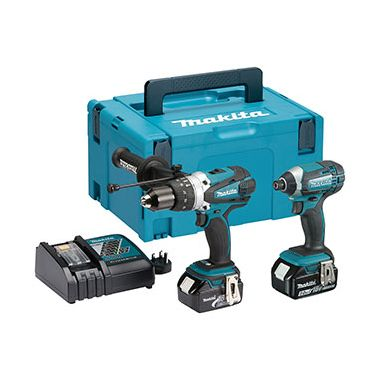 Makita DLX2145TJ 18v Li-Ion Combi Drill and Impact Driver Twin Pack 2 x 5.0Ah Batteries