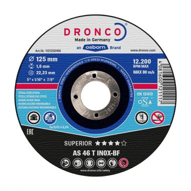 Dronco AS46T 125 x 1.6mm Inox Metal Cutting Disc