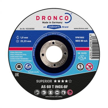 Dronco AS60T 125 x 1.00mm Inox Metal Cutting Disc