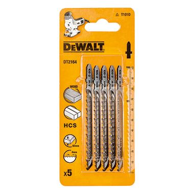Dewalt DT2164-QZ Pack of 5 T101D Jigsaw Blades for Wood