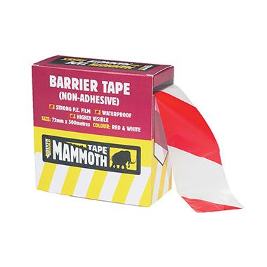 Everbuild 2BARRD500 Non Adhesive Barrier Tape Red and White 72mm x 500m