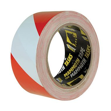 Everbuild 2HAZRD PVC Hazard Tape in Red and White 50mm x 33m