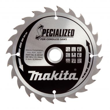 Makita B-09167 165mm x 24T TCT MForce CCC16524E 1.50 Saw Blade