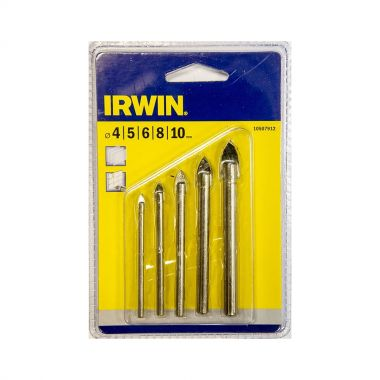 Irwin Glass and Tile Drill Bit Set 5 piece 4-10mm 10507912
