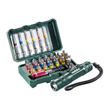 "Metabo 626721000 BIT-BOX ""SP"", 29 PIECES + MINI FLASH LIGHT"