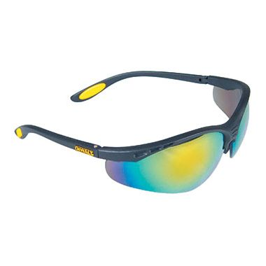 Dewalt Reinforcer Fire Mirror Safety Glasses