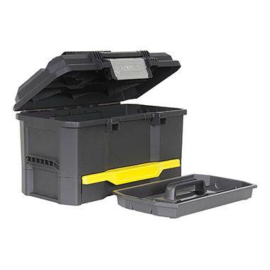 "Stanley 19"" One Touch Tool Box with Drawer"