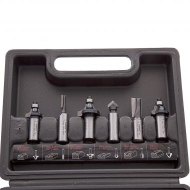 Trend SET/SS11X1/4TC 6 Piece Router Cutter Set 1/4in Shank