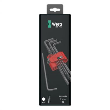 WERA 073596 Hex Key Set 9 Pieces