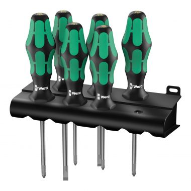 WERA 105622 Kraftform 300 Laser Tip Screwdriver Set, 6 Pieces