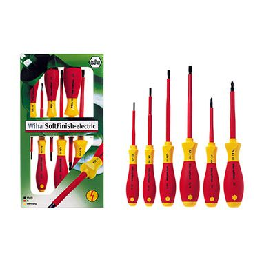 Wiha 25477 Soft Grip 6 Piece VDE Screwdriver Set
