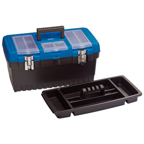 "Draper 53880 18L 19"" Tool Box with Organiser and Tote Tray"