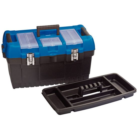 "Draper 53887 30L 22"" Tool box with Organiser and Tote Tray"