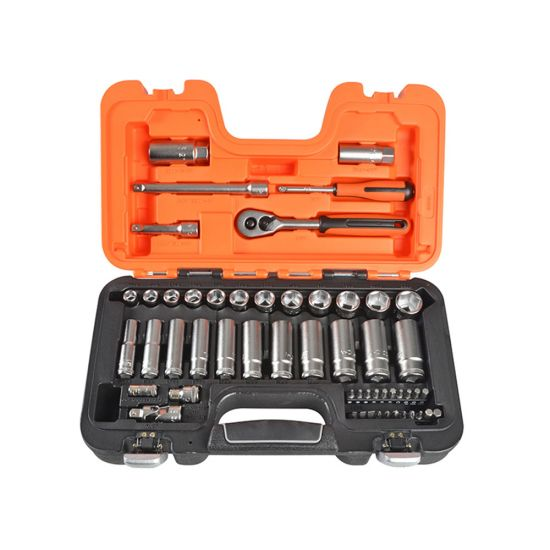 "Bahco S330L Socket Set 1/4"" and 3/8"" Drive with 53 Pieces"