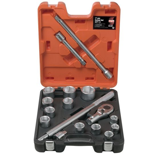 """Bahco SLX17 Socket Set 3/4"""" Drive with 17 Pieces"""
