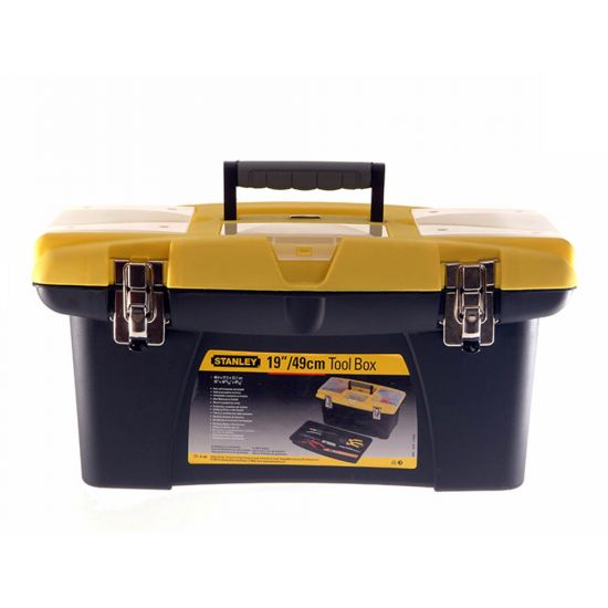 """Stanley 1-92-906 19"""" Jumbo Tool Box with Pull Out Organisers"""