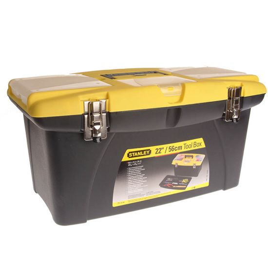 """Stanley 1-92-908 22"""" Jumbo Tool Box with Pull Out Organisers"""